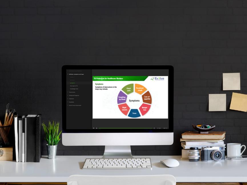 Evolve learning management system